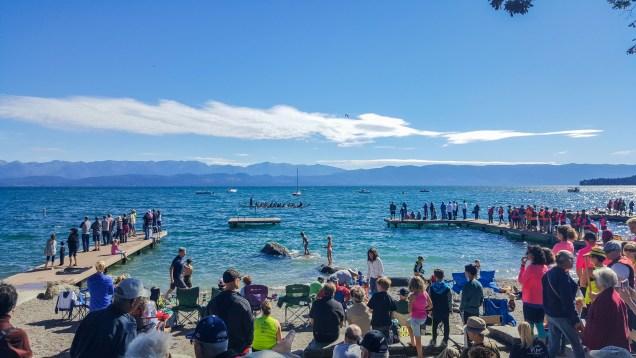 Dragon boat races at Flathead Lake