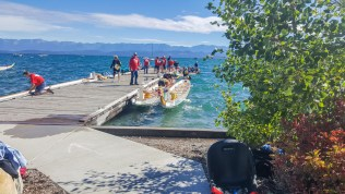 Too windy to row, putting the boats up