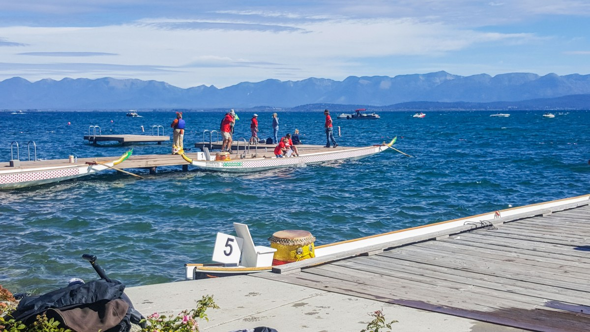 Boat races at Flathead Lake