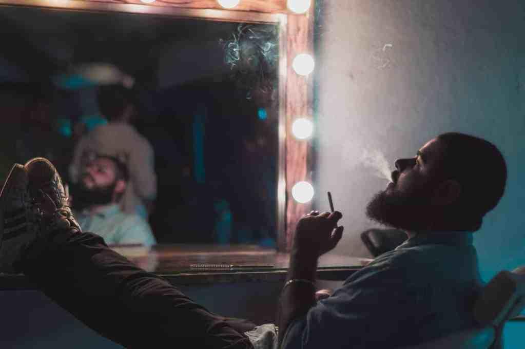 Nur eine Zigarette