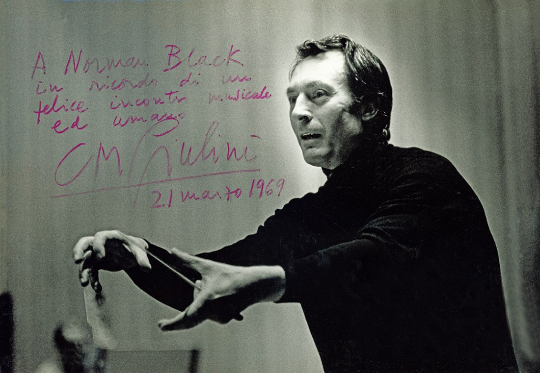 Carlo Maria Giulini with note to Norman Black
