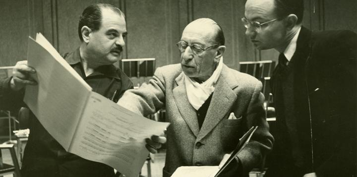 Norman Black with Stravinsky