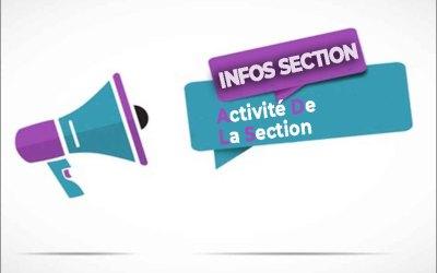 Compte-rendu d'activité de la section septembre 2020