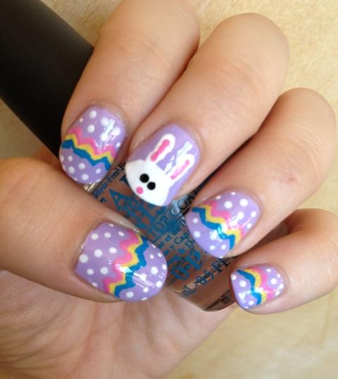 easter bunny nail art. normandlou