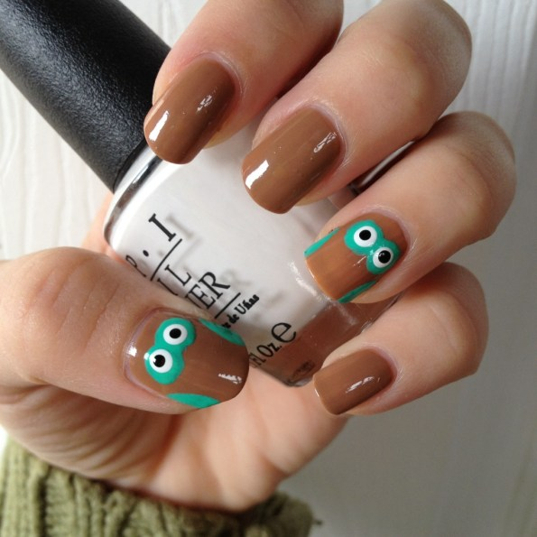 owl nail art tutorial normandlou