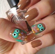 owl nail art tutorial normandlou
