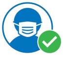 Icon showing person wearing a face mask