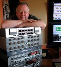 Dennis Blackham with some mastering equipment.
