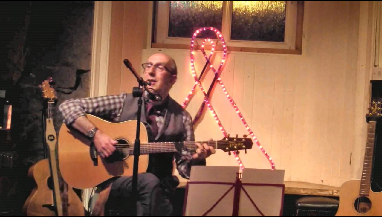 Norman Lamont performing at The Village, Leith, Edinburgh