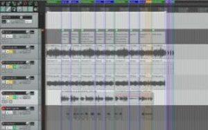 Screen shot from Reaper software