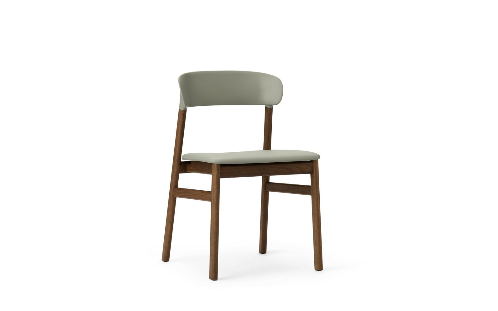 Green Upholstered Chair Herit Chair Upholstery Smoked Oak Spectrum Leather Dusty Green