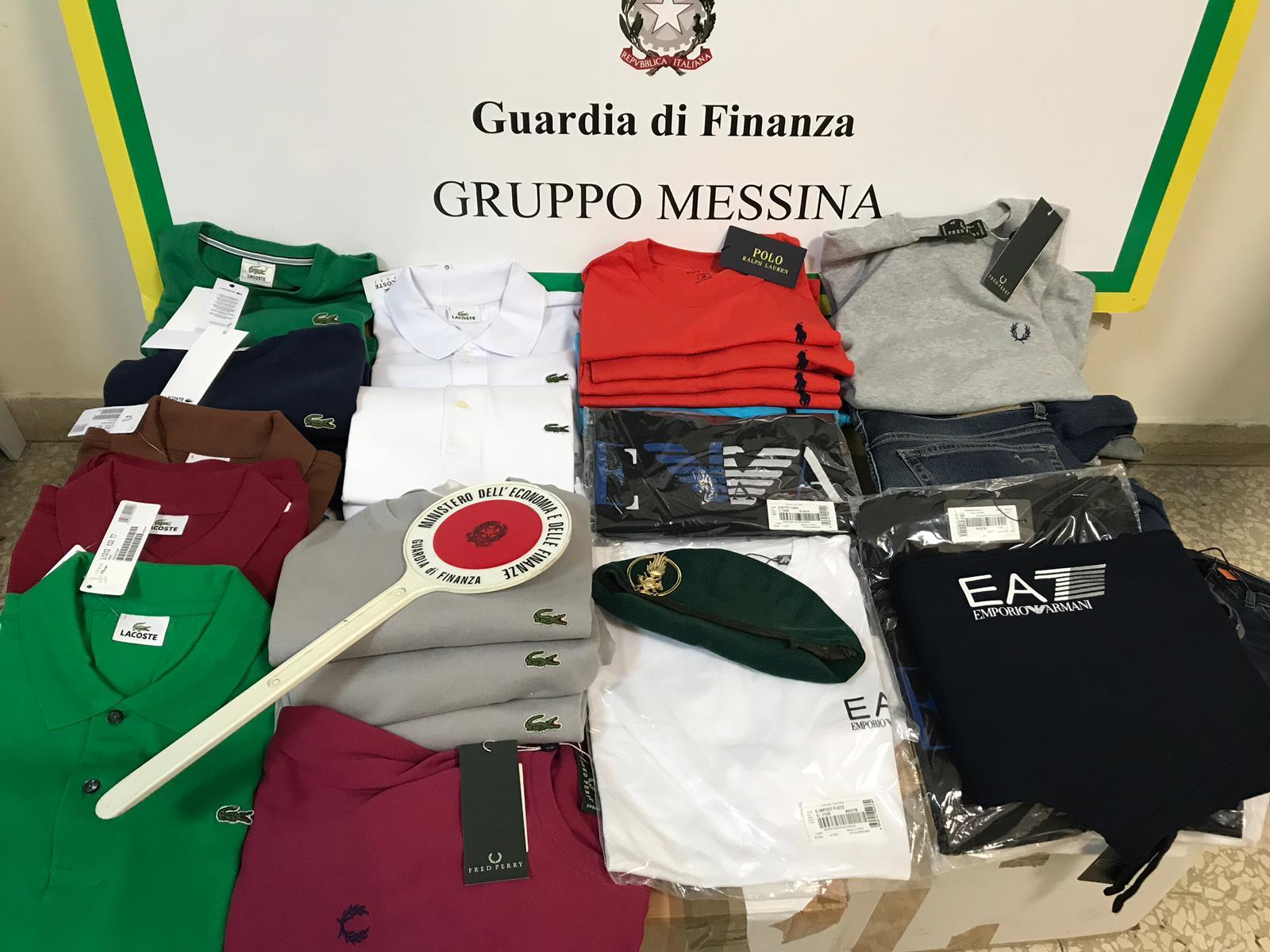 Scarpe e abiti contraffatti due negozi del centro di Messina nel mirino della GdF  Normannocom