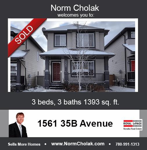 1561 35B Avenue Edmonton Sold