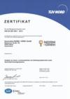 TÜV Certificate ISO9001: 2015