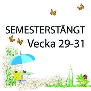 Semesterstängt 29-31