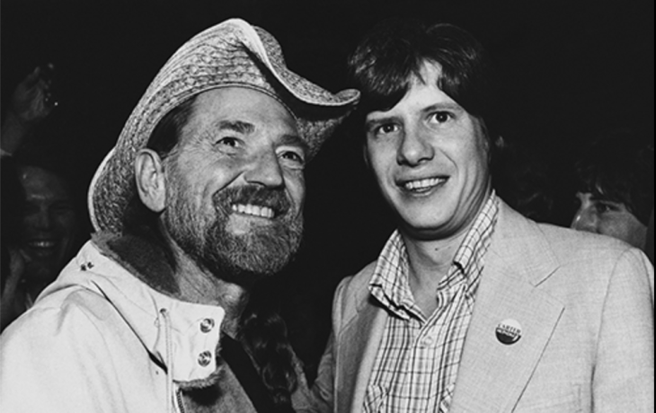 Willie Nelson and Chip Carter