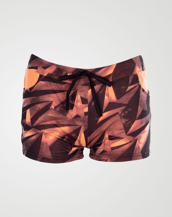 Image 1 of Girls Geo Print Hot Pants Shorts of color Coral from Noroze