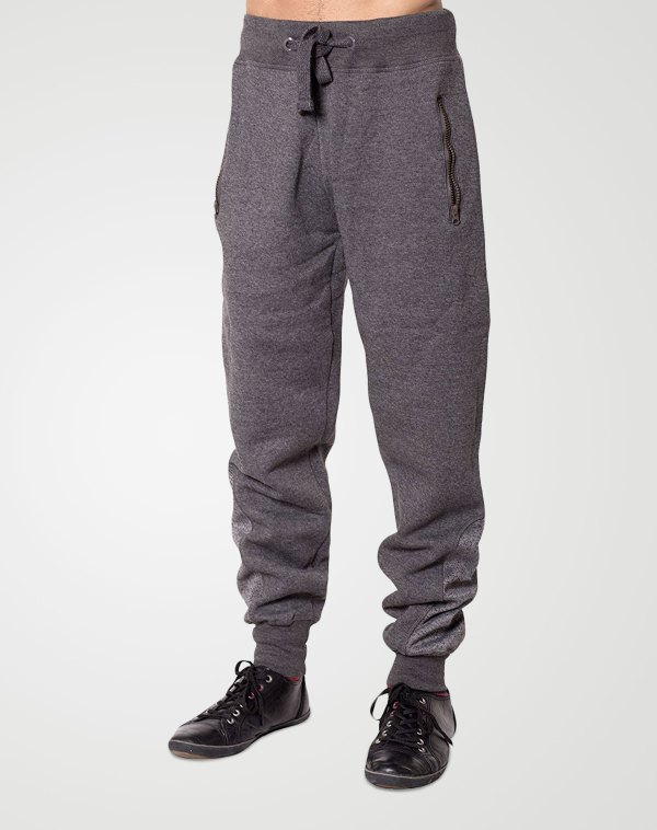 Image 1 of Mens Contrast Ankle Bottoms color Charcoal and sizes S, M, L, XL, 2XL from Noroze