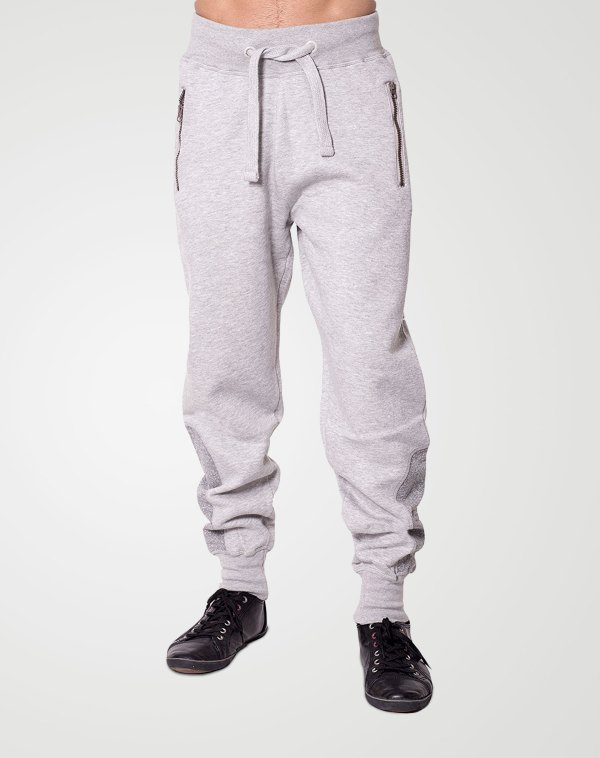 Image 1 of Mens Contrast Ankle Bottoms color Grey and sizes S, M, L, XL, 2XL from Noroze