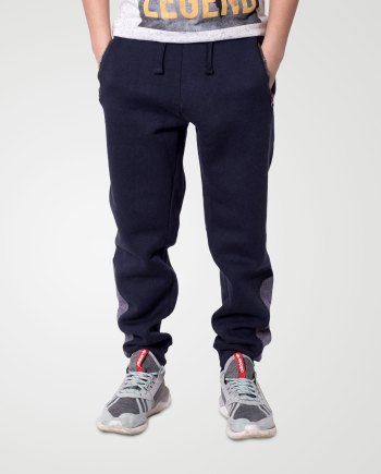 Image 1 of Boys Contrast Ankle Trouser color Navy and sizes 7-8, 9-10, 11-12, 13 from Noroze