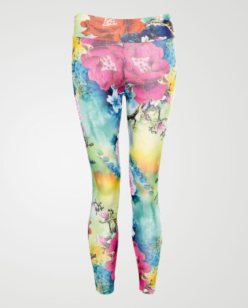 Image 1 of Girls Floral Print Leggings color Green and sizes 7-8 yrs, 9-10 yrs, 11-12 yrs, 13 yrs from Noroze