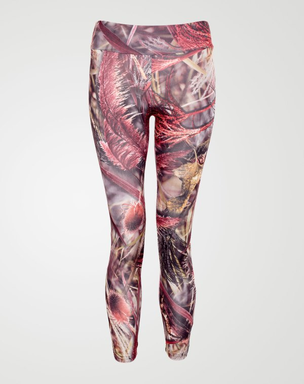Image 1 of Girls Floral Print Leggings color Brown sizes 7-8 yrs, 9-10 yrs, 11-12 yrs, 13 yrs from Noroze