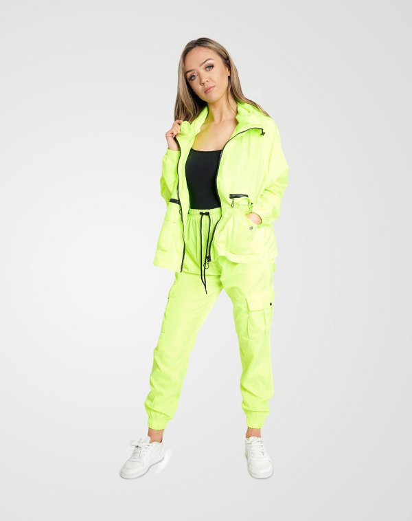 Image 2 of Womens Loose Light Raincoat Waterproof color Neon-Green and Sizes S/M, L/XL from Noroze