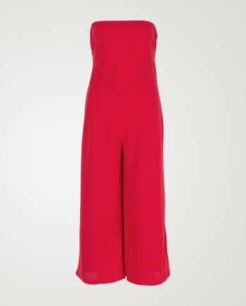 Image 1 of Womens Off Shoulder Jumpsuit in color Red and sizes 8, 10,12, 14 from Noroze