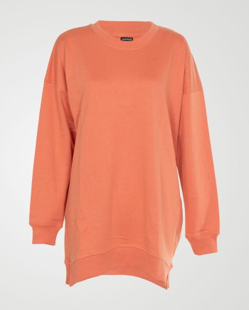 Image 1 of Womens Over-sized Sweatshirt Pullover color Orange and sizes S, M, L, XL from Noroze