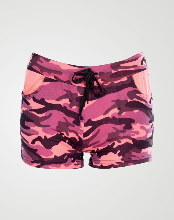 Image 1 of Camo Pattren Hotpants Pink from Noroze