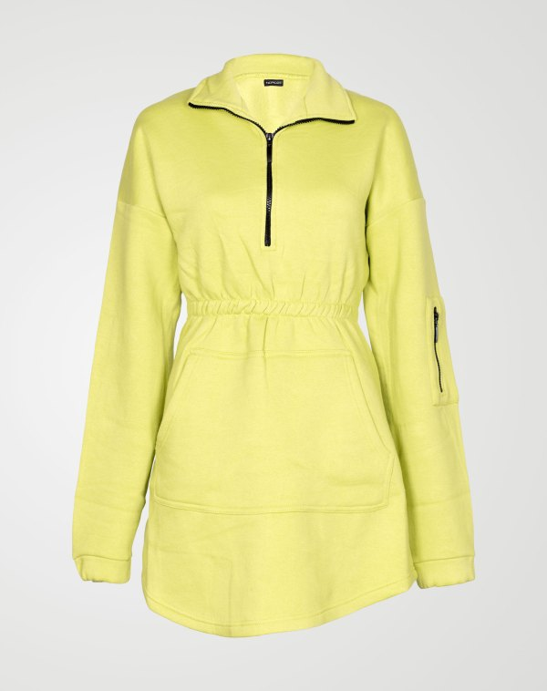 Image 1 of Womens Fleece Quarter Zip Top Dress color Lime and sizes 8,10,12,14 from Noroze