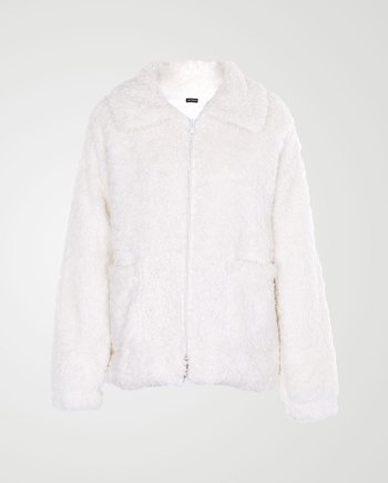 Image 1 of Womens Borg Teddy Jacket color Cream and sizes 8,10,12 from Noroze