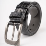 Image 1 of Mens Animal Patterned Leather Belt of color Black from Noroze Brand