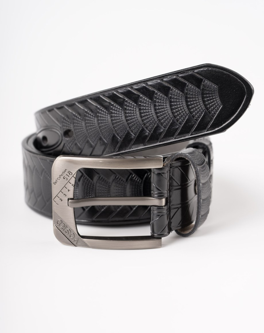 Image 2 of Mens Animal Patterned Leather Belt of color Black from Noroze Brand