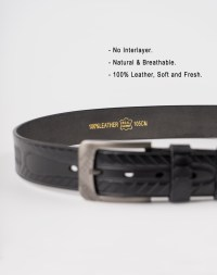Image 6 of Mens Animal Patterned Leather Belt of color Black from Noroze Brand