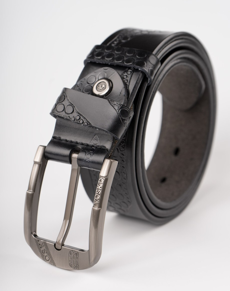 Image 1 of Mens Leather Belt of color Black from Noroze Brand