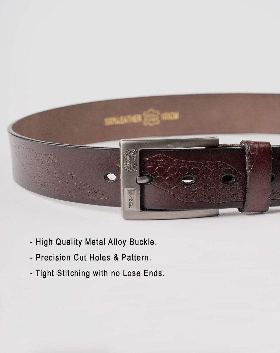 Image 5 of Mens Leather Belts of color Coffee from Noroze Brand