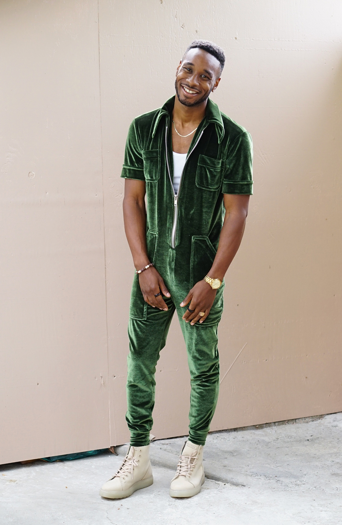 Diy Men S Velvet Jumpsuit Norris Danta Ford