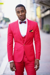 OOTD: RED 3 PIECE SUIT IN BUSINESS ATTIRE  Norris Danta Ford