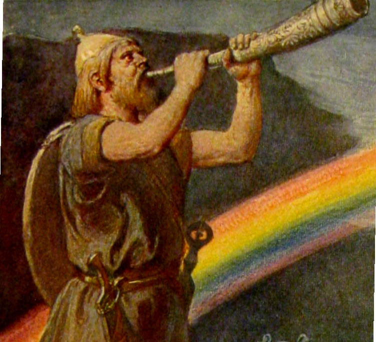 Bilderesultat for symbol heimdall mythology