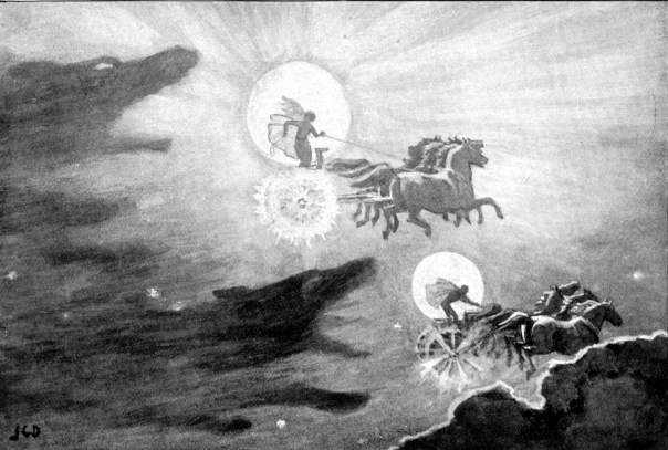 Image result for wolf eating the moon painting