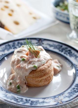 Sauce Pour Saumon Chaud : sauce, saumon, chaud, Vol-au-vent, Saumon, Sauce, Jarlsberg®, Norseland