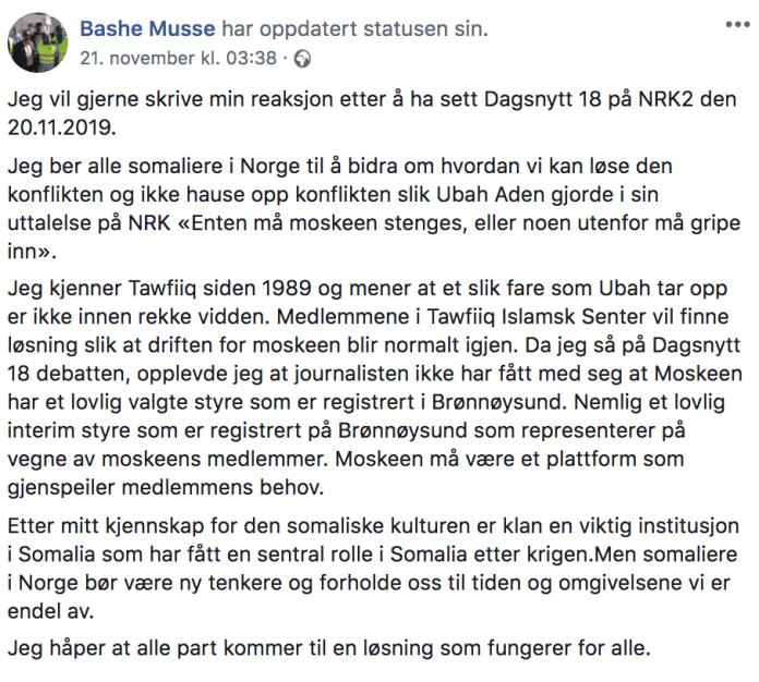 Foto: Skjermdump/Facebook.