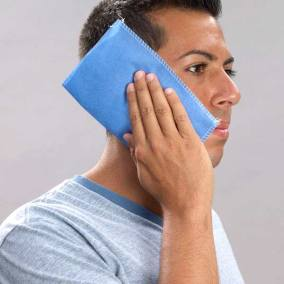 Blue Easy Sleeve Disposable Cover on Face