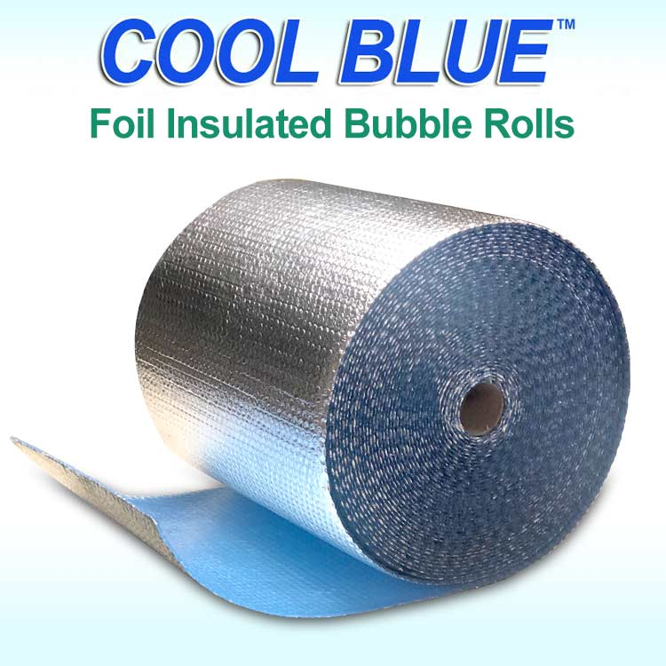 Cool Blue Foil Bubble Rolls
