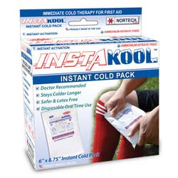 "InstaKool Instant Ice Pack, Size: 6"" x 8.75"" - LARGE SIZE (RETAIL BOX)"