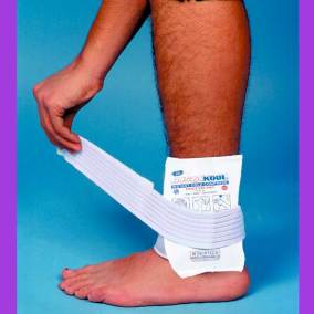 InstaKool Instant Cold Pack on Ankle