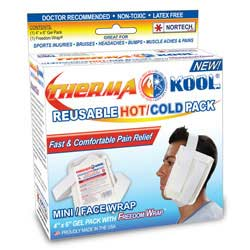 "Therma-Kool Reusable Hot Cold Pack with Freedom Wrap, 4"" x 6"""