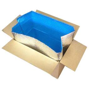 Cool Blue Foil Bubble Box Liner in Box