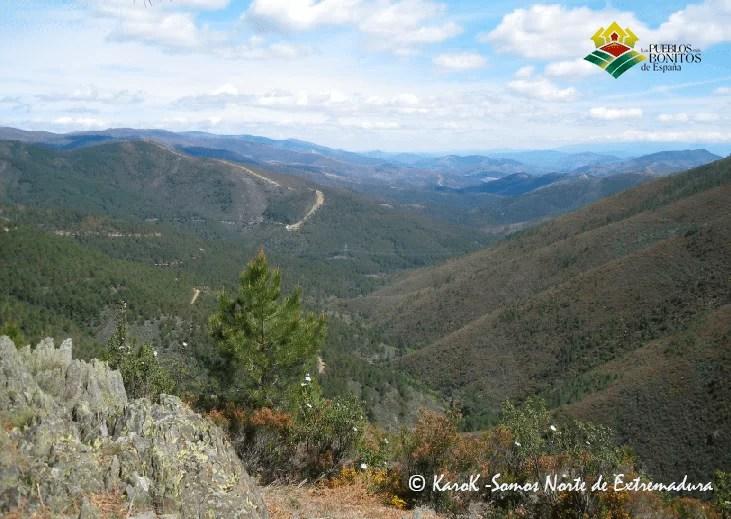 Vistas desde el mirador del Chorro de los Ángeles (Cáceres)